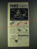 1958 Remington Tools Ad - Concrete Vibrator Model 7GVW, Planer Model 3P
