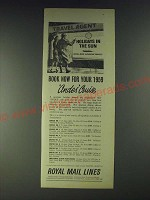 1958 Royal Mail Lines Ad - Book now for your 1959 Andes Cruise