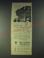 1958 The London Assurance Ad - What if it were my business on Fire