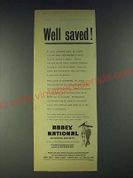 1958 Abbey National Building Society Ad - Well saved!