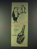 1958 Vat 69 Scotch Ad - Every man has a double