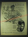 1958 Courtaulds High-Tenacity Rayon Ad - Endurance in your tyres, too