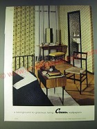 1958 Crown Wallpapers Ad - No. A28646 Mosaic X35233 - gracious Living