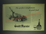 1958 Grand Marnier Liqueur Ad - The perfect complement to good food