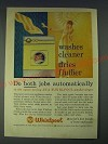 1958 RCA Whirlpool Washer-Dryer Ad - Washes cleaner dries fluffier