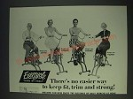 1958 Exercycle Exercise Bike Ad - There's no easier way to keep fit, trim