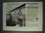1958 Michigan Tourism Ad - Let yourself go! Have fun in Michigan water