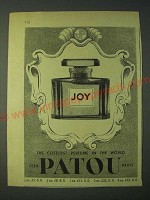 1958 Jean Patou Joy Perfume Ad - The Costliest Perfume in the World