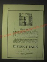 1958 District Bank Limited Ad - Observation Post