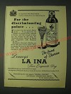 1958 Domecq La Ina Sherry Ad - For the discriminating palate