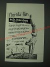 1958 St. Petersburg Florida Ad - Florida Fun in St. Petersburg