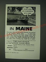 1958 Maine Tourism Ad - Your kind of a vacation at a lake in Maine