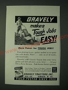 1958 Gravely Tractor Ad - Gravely makes tough jobs easy