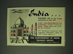 1958 India Tourist Office Ad - India… welcomes you to the richest experience