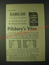 1900 Pillsbury's Vitos Wheat Food Ad - $680.00 (Six Hundred and Eighty Dollars)