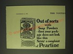 1900 James Pyle's Pearline Washing Compound Ad - Out of sorts with soap powders