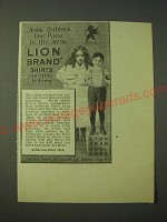 1900 United Shirt & Collar Lion Brand Shirts Ad - Now Bobby's like Papa