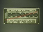 1900 Liberty Bakery Franklin Health Biscuit & Wafer Ad - what you're Hungry For