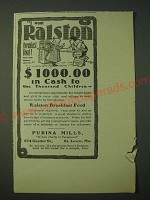 1900 Purina Mills Ralston Breakfast Food Ad - I Want Ralston Breakfast Food!