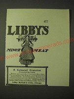 1900 Libby's Mince Meat Ad - A Colonial Creation perfected by Libby