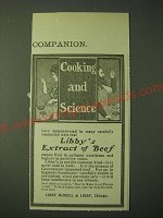 1900 Libby's Extract of Beef Ad - Cooking and Science
