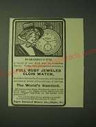 1900 Elgin Watches Ad - In Grandma's Time