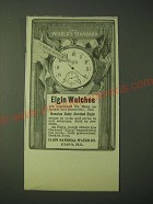 1900 Elgin Watches Ad - The world's standard
