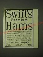 1900 Swift's Premium Hams Ad