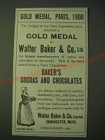 1900 Walter Baker & Co.'s Baker's Cocoas and Chocolates Ad - Gold Medal, Paris
