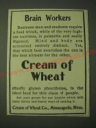1900 Cream of Wheat Cereal Ad - Brain Workers