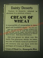 1900 Cream of Wheat Cereal Ad - Dainty Desserts
