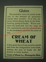 1900 Cream of Wheat Cereal Ad - Gluten