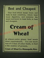 1900 Cream of Wheat Cereal Ad - Best and Cheapest