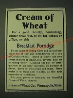 1900 Cream of Wheat Cereal Ad - Breakfast Porridge