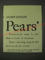 1900 Pears' Soap Ad - Pears' Economical soap is one that a touch of cleanses