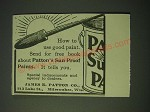 1900 Patton's Sun Proof Paints Ad - How to use good paint