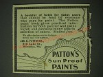 1900 Patton's Sun Proof Paints Ad - A bookful of helps for paint users