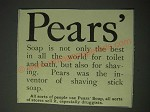 1900 Pears' Soap Ad - Pears' Soap is not only the best in all the world