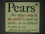 1900 Pears' Soap Ad - Pears' No other soap in the world is used so much