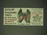 1900 Dunlop Detachable Tires Ad - Dunlop Detachable Tires are hand made
