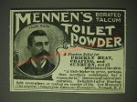 1900 Mennen's Borated Talcum Toilet Powder Ad - A positive relief