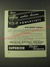 1943 Superior Electric Company Powerstat Motor-driven variable transformers Ad