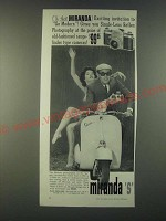 1959 Miranda S Camera Ad - Vespa Scooter - Oh that Miranda!