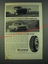 1959 Firestone Rubber-X Tires Ad - Rubber-X surpasses car makers' Tests
