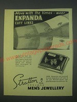 1959 Stratton Expanda Cuff Links V2070 Ad - Move with the times