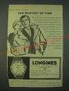 1959 Longines Watches Ad - The mastery of time
