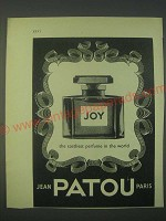 1959 Jean Patou Joy Perfume Ad - The costliest perfume in the world