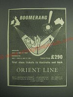 1959 Orient Line Cruise Ad - Boomerang!