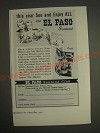 1959 El Paso Texas Ad - This year see and enjoy all the El Paso Sunland