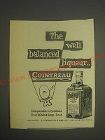 1959 Cointreau Liqueur Ad - The well balanced liqueur